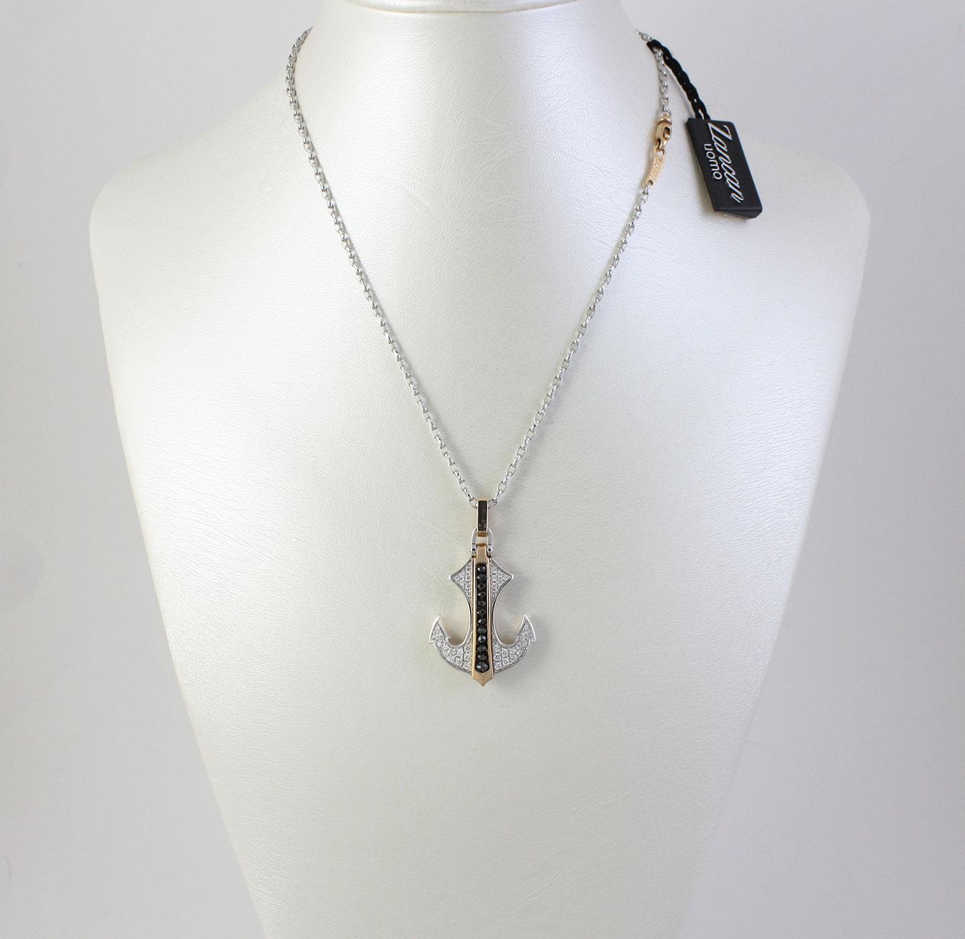 miglior servizio 18815 9e1ab Collana Zancan a forma di àncora in Oro 18 kt e Diamanti ref. EC260RB