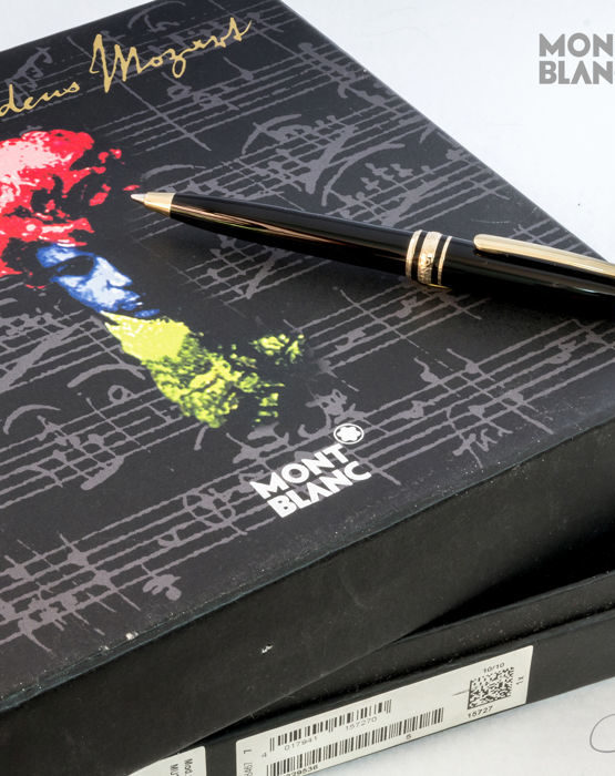 Penna a sfera Montblanc Meisterstück Hommage à W. A. Mozart da in scatola speciale + CD musicale 1