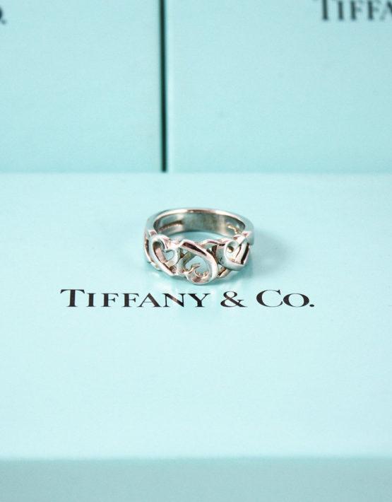 comprare on line 8f648 28756 Anello Tiffany & Co Argento Collezione PALOMA-PICASSO®-Loving-Heart Fedina  Size 15