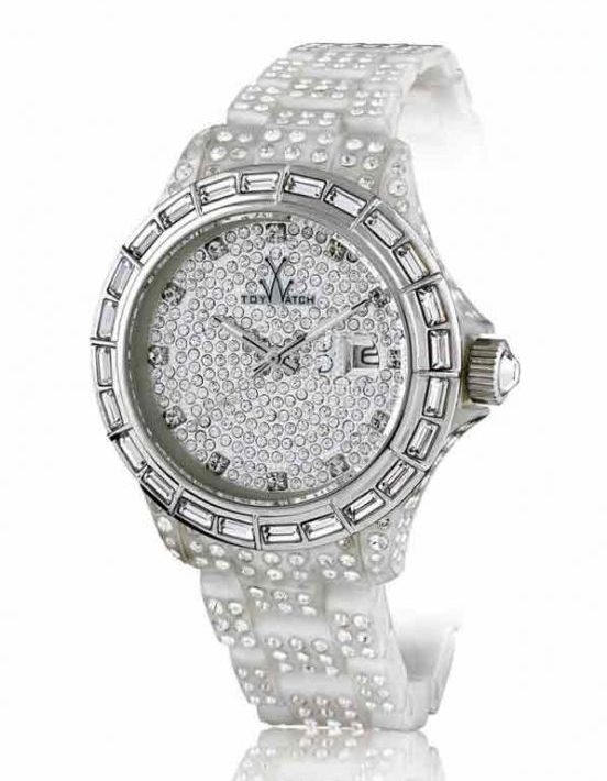 ToyWatch Total Stones White