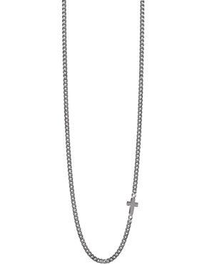 """55ad5dfc5490a4 Collana uomo Jack & Co collezione """"Cross-Over"""" a catena in argento brunito  con croce ref. JUN0010"""