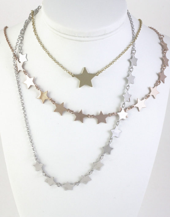 vendita calda online 4938d c81d4 Collana girocollo argento 925 con stelle centrali in diverse varianti