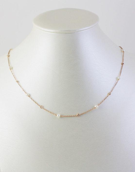 Girocollo Oro Giallo Perle e Zaffiri 1