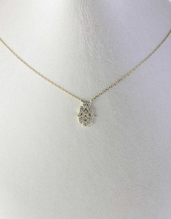 Collana-Manina-turca-Argento-925-dorato-con-cristalli-biachi