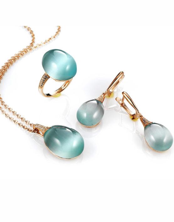 Collana-e-Orecchini-con-pendente-celeste-Collezione-Olga-Maison-Tatiana-Fabergé